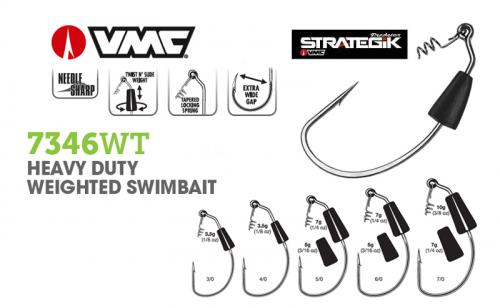 Куки VMC 7346 Heavy Duty Weighted Swimbait