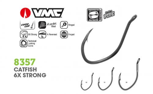 Куки VMC 8357 Catfish 6X Strong Livebait Hook