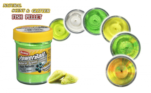 Berkley Natural Scent Glitter Fish Pellet