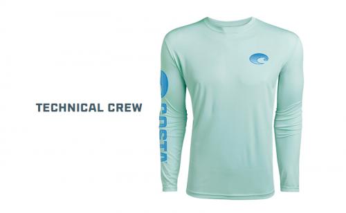 Блуза Costa Technical Crew Long Sleeve