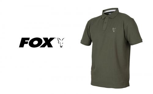 Тениска с яка Fox Collection Green & Silver Polo Shirt