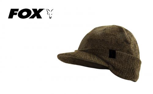 Зимна шапка с козирка Fox Khaki Black Peaked Beanie CHH002