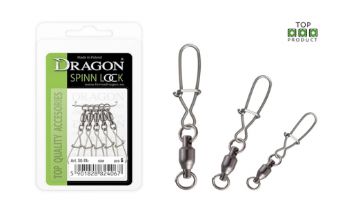 Вирбел с лагер и карабинка Dragon Spinn Lock Ball Bearing Swivels