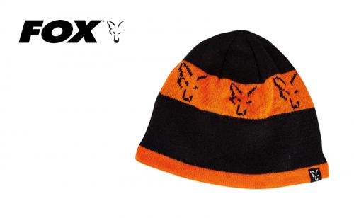 Плетена шапка Fox Black & Orange Beanie CPR993