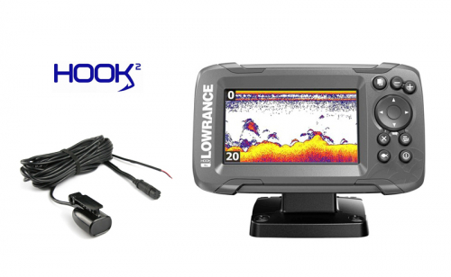 Lowrance Hook2 4x with GPS & Bullet Skimmer 200
