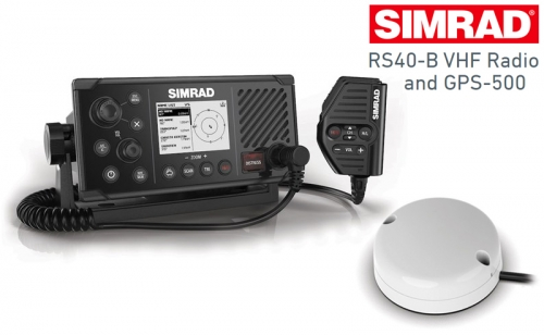 VHF Радиостанция Simrad RS40-B с антена GPS-500
