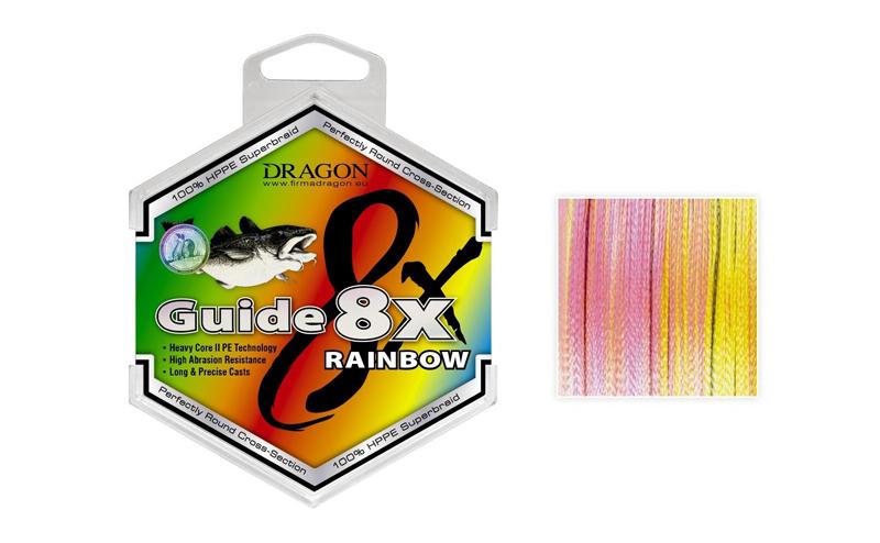 Плетено влакно Dragon Guide Pro Rainbow 8X