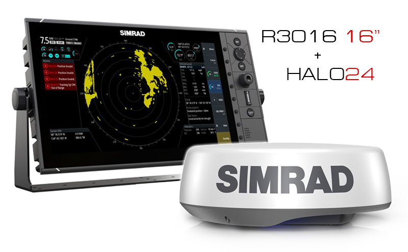 "Комплект радар Simrad HALO24 + про екран R3016 16"""