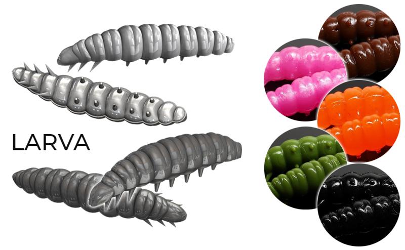 Силиконова ларва Libra Lures Larva
